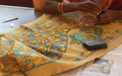 kalamkari art traditionnel indien